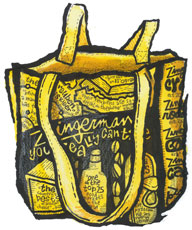 Zingerman's Yellow Canvas Tote Bag