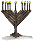 Chocolate Menorah