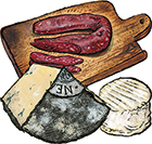 3 Cured Meats & Cheeses Custom Gift Box