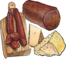 4 Cured Meats & Cheeses Customizable Gift Box