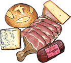 4 Cured Meats & Cheeses plus Bread Custom Gift Box