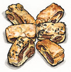 Date and Sesame/Almond Rugelach Cookies Gift Box