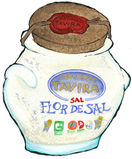 Flor De Sal Sea Salt in Vintage Style Glass Jar