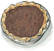 Chocolate Chess Pie in our Cartoon Cardboard Box