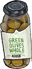 Greek Hondrolea green olives