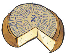 Antique Gruyère Cheese from Switzerland