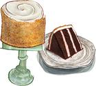 Neat-opolitan Buttercream Cake