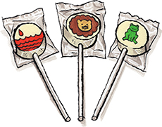 Marzipan Passover Plague Lollipops