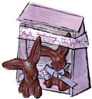 Vosges Chocolate Easter Bunny