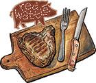 Red Wattle Porterhouse Pork Chops