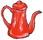 Fuji Red Tea and Coffee Pot